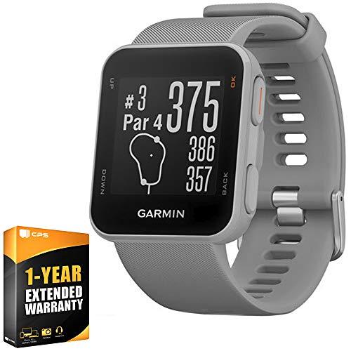 Garmin Approach S10 Lightweight GPS Golf Watch, Powder Grey (010-02028-01) Bundle with 1 Year Extended Warranty