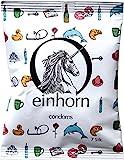 Einhorn Kondome - Wochenration, Vegan, Hormonfrei, Feucht, Geprüft, Farblich sotiert, 7 Stück