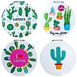 DISOK - Espejo Cactus Redondo (Precio Unitario) - Espejos para Detalles de Bodas, Comuniones y Bautizos. Espejitos Originales