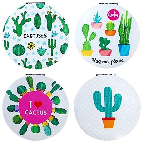 DISOK - Espejo Cactus Redondo (Precio Unitario) - Espejos para Detalles de Bodas, Comuniones y Bautizos. Espejitos Baratos y Originales