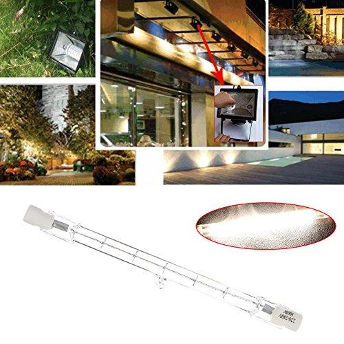 Mingruie Lumières d'inondation à double extrémité des ampoules R7S d'halogène de T3 220-240v 118MM, 100W