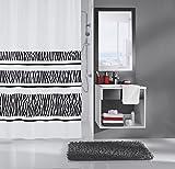 Meusch 2385185305 Duschvorhang Safari, 180 x 200 cm, schwarz/weiß