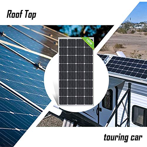 ECO-WORTHY 0.6KWH/DAY Solar Panel System 150W 12V Solar Panel Kit with 20A Charge Controller for RV Boat Off Grid Home