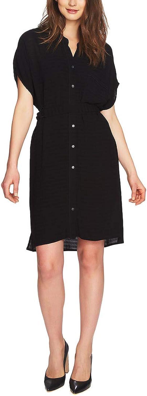 1.STATE Womens Short Sleeve Knee Length Shirtdress