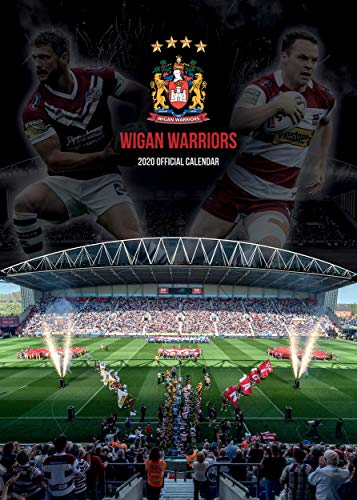 Global Merchandising Wigan Warriors 2020 Wandkalender, A3 Rugby League