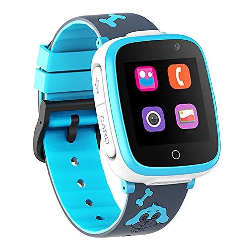 NXW GPS Tracker Kids Smartwatch Phone per Bambini Impermeabile, Localizzato Pedometro con Chat Vocale, Sveglia SOS per Il Gioco di Matematica Kids Smart Watch, Regalo Ragazzo E Ragazza