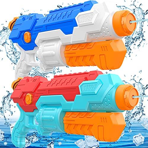 Juguete Pistola De Agua NiñOs,Con 830Ml Super Power Water Gun Alcance Largo...