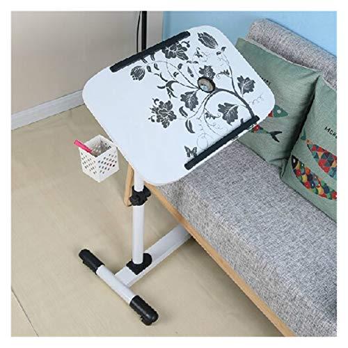 RTYU Escritorio portátil impresión móvil portátil mesa multifunción perezoso mesita de noche altura ajustable elevación escritorio mesa auxiliar
