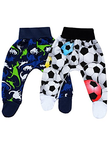 Klekle Baby Jungen Strampelhose (2er Pack) Navy Dino Schwarz Ball 22754 Größe 86