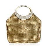 Bolso De Noche Mujeres Bolso De Mujer De Diamantes De Imitación Bolso De Fiesta De Boda Bolsos De Noche Forma De Cubo De Moda Bolso Femenino Totes-Gold