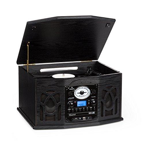 Auna NR-620 Tocadiscos - Reproductor vinilos y CD, Altavoces