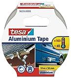 tesa Aluminium Klebeband / Selbstklebendes Aluminiumband für Reparaturen von metallischen Oberflächen / 10m x 50mm