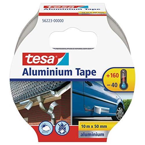 Tesa TE56223-00000-11 Cinta reparación de aluminio 10mx50mm Plata, Standard, 10m x 50mm