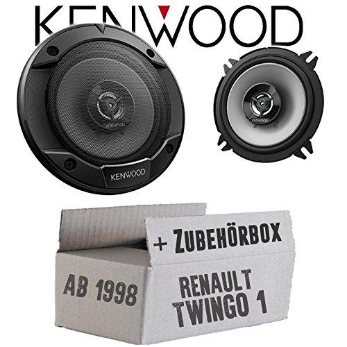 Lautsprecher Boxen Kenwood KFC-S1366-13cm 2-Wege Koax Auto Einbauzubehör - Einbauset für Renault Twingo 1 Phase 2 Front - JUST SOUND best choice for caraudio