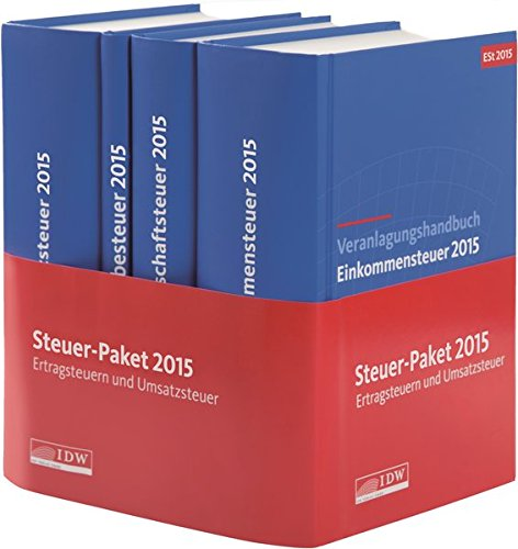 Steuer-Paket 2015: Ertragsteuern und Umsatzsteuer: Veranlagungshandbücher: Einkommen-, Körperschaft-, Umsatz- und Gewerbesteuer 2015 (Gesamtabnahme)