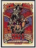Póster De Lienzo Heavy Metal Kiss Rock Band Posters Equipo De Música Estrella Clásica Pintura Decorativa Póster Etiqueta De La Pared 50 * 70Cm Impermeable Y Protector Solar Sin Marco
