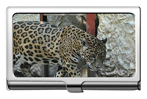 Professionelle Visitenkartenetui Edelstahl, Leopard Wild Leopard Visitenkartenetui Wallet Kreditkartenetui