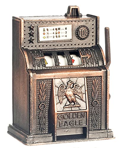 Town Square Miniatures Miniatura para Casa de Muñecas Bar Pub Tienda Arcade Accesorio Antiguo Ranura Máquina