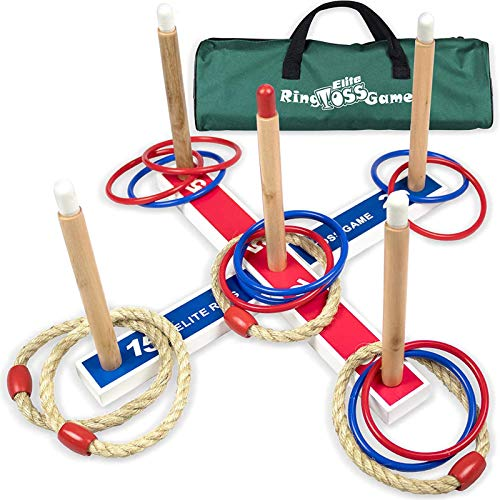 Elite Outdoor Games For Kids - Ring Toss Yard Games for Adults and Family. Easy Backyard Games to Assemble, With Compact Carry Bag for Easy Storage. Fun Kids Games or Outdoor Toys for Kids