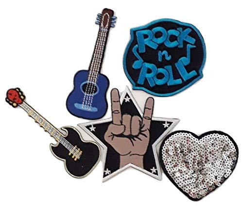 B2see Ecusson Patch Rock Musique fête Anniversaire brodé-rie a Coudre thermocollant