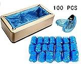 ZTBXQ Protezione Protettori Impermeabili Impermeabili per tappeti da Pavimento Copriscarpe in plastica Copriscarpe monouso Resistenti con Scatola per Dispenser di stoccaggio Pavimenti
