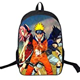 WANHONGYUE Naruto Anime Imagen Mochila de la Escuela Estudiante Bolsas Escolar Bolsa de Ocio Viaje...