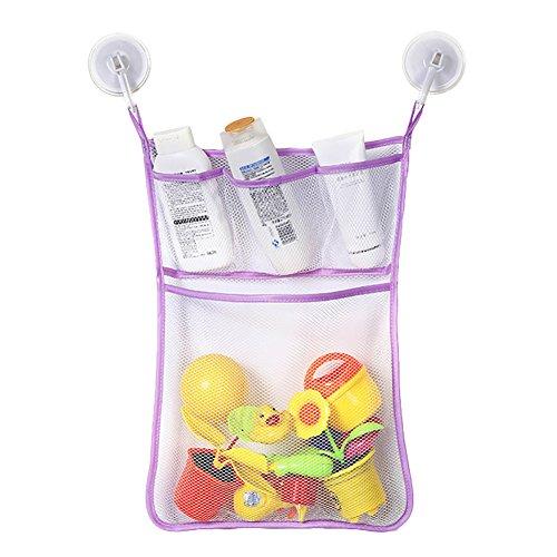 Bolsa de armazenamento para pendurar em tela de brinquedo de banheiro Angel3292, Roxa, 2