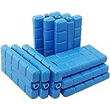 com-four 9X Batterie de Refroidissement en Bleu - Eléments de Refroidissement pour glacière et Sac Isotherme - Batteries de Refroidissement pour la Maison et Les Loisirs