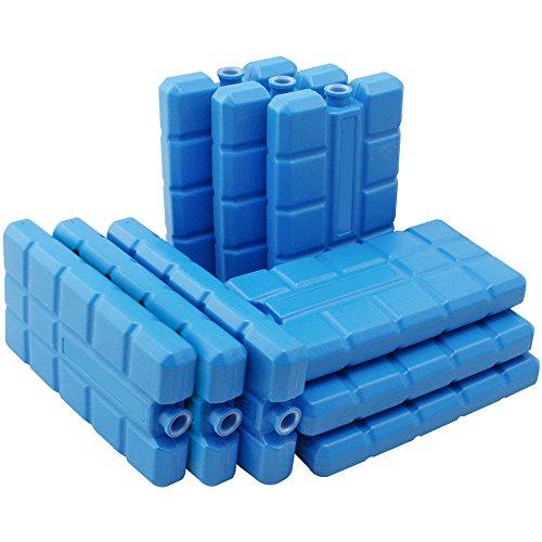 com-four® 9X Kühlakku in blau - Kühlelemente für Kühlbox und Kühltasche - Kühlakkus für Haushalt und Freizeit