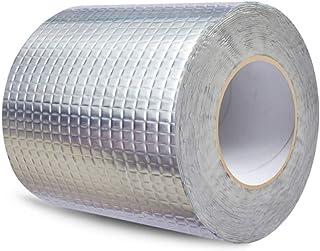 FlashIng Tape, Aluminlum Tape Water Leak Tape Roof Waterproof Tape Butyl Self-adhesive Paper High Viscosity Checkered Alum...