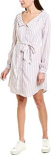 cupcakes and cashmere womens daylily yarn dyed rayon stripe shirt dress Dress