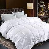 "BALICHUN Comforter Queen Size White All Season Reversible Down Alternative Duvet Insert with Corner Tabs - Quality Winter Warm Soft Comforter (White,Queen,88""x88"")"