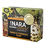 Jabón hecho a mano con jabón !Nara Cúrcuma y Naranja 80g de aceite suave para el cuidado diario facial y corporal con efecto cicatrizante de heridas para pieles sensibles, cicatrices y estrías.