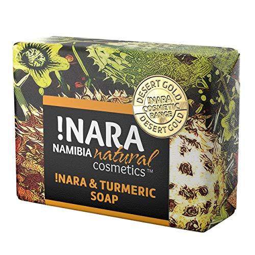!Nara Bio Naturkosmetik Seife mit Kurkuma & Orange 80g milde Öl-Seife zur täglichen Gesichtspflege und Körperpflege mit wundheilender Wirkung für empfindliche Haut, Narben und Dehnungsstreifen