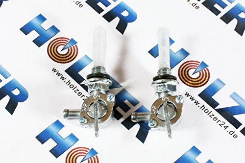 Holzer 2x Benzinhahn für diverse Stromerzeuger und Benzin Motoren