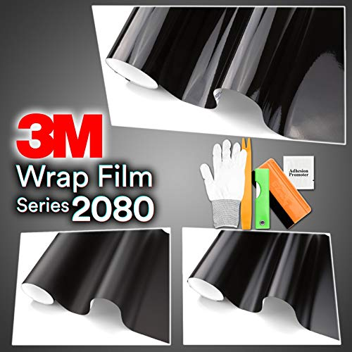 Find Discount JDMBESTBOY Free Tool Kit Genuine 3M 2080 Series S12 Satin Black Vinyl Wrap Vehicle Fil...