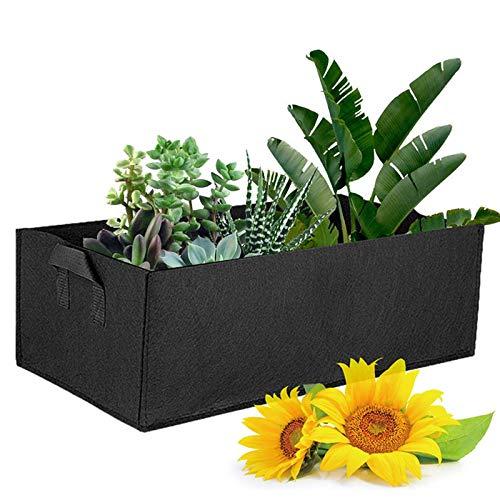 YIREAUD Hochbeete, rechteckige Pflanzen-Wachstumstaschen mit Griffen, Vliesstoff, Hochbeet, für Blumen, Gemüse, Pflanzen