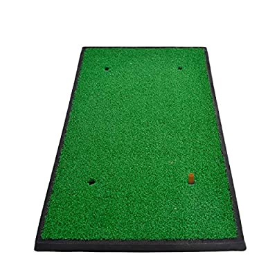 Galileo Golf Hitting Mats 12x24in Golf Turf Putting Grass Mat Golf Pad Golf Training Practice Turf with Tee Holder(GM-1224-03)