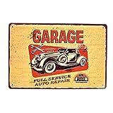CJIANHUA Pegatinas de Pared Arte Retro Poster Garaje Vintage Riega en Relieve Metal Signos Bar Pub Pub Reparación Hogar Tienda Gas Placas Decorativas Neumático (Color : H)