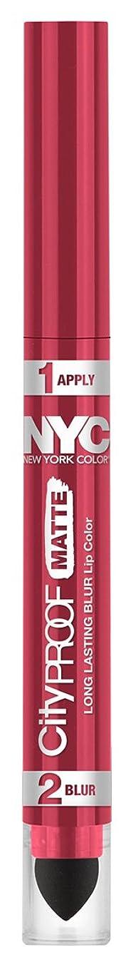 発音クラッチバーガーNYC City Proof Matte Blur Lip Color - Rose Island (並行輸入品)