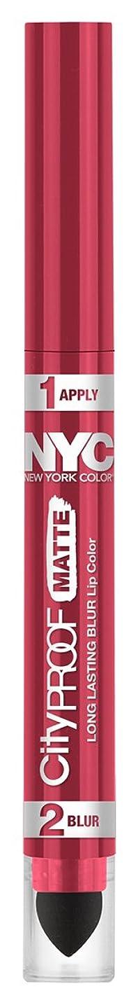 急いで好きである敵対的NYC City Proof Matte Blur Lip Color - Rose Island (並行輸入品)