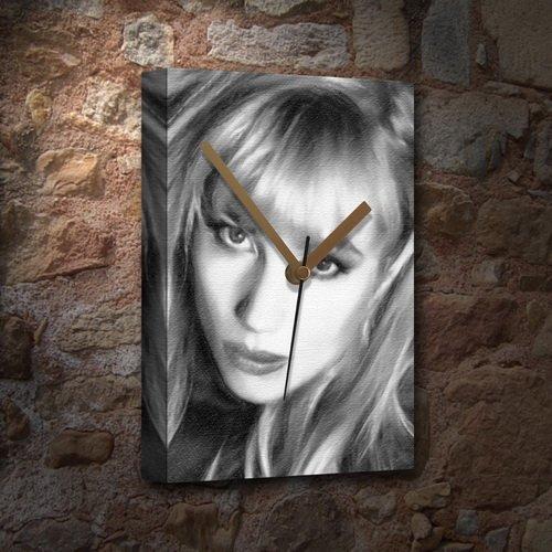 REBECCA DE MORNAY - Canvas Clock (A5 - Signed by the Artist) #js001