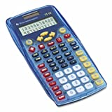 Texas Instruments TI-15 Explorer Elementary Calculator - Auto Power Off, Dual Power, Plastic Key, Impact Resistant Cover - 2 Line(s) - 11 Digits - Battery/Solar Powered - 6.9' x 3.5' x 0.7' - Blue - 1