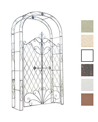 CLP Arco De Jardín con Puerta Melissa I Enrejado con 2 Puerta para Plantas Trepadoras I Entrada Jardín En Forma De Arco para Flores I Color: Bronce