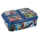 Stor Avengers | Sandwichera con 3 Compartimentos para niños - lonchera Infantil - Porta merienda - Fiambrera Decorada