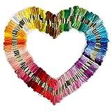 Tinksky bordado dmc hilados de 150 madejas de hilo de 8 M multi Color Threads Floss (Random) Color