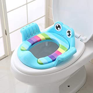 Potty Training Seat for Kids,Foonee Portable Reusable Non-Slip Pad Potty Training Seat Cover with Handle and Backrest for Universal Potty seat for 1-7 Years Babies, Toddlers Boys and Girls