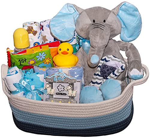 Bundle of Joy Deluxe Baby Girl or Boy Gift Basket (Medium) | 21 Piece...