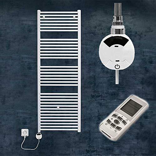 S-1046 Elektrischer Badheizkörper elektrisch Elektro Heizkörper Handtuchtrockner elektrisch Designheizkörper gerade weiß (986 mm x 504 mm)