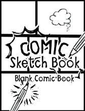 Comic Sketch Book - Blank Comic Book: Create Your Own Drawing Cartoons and Comics (Large Print 8.5